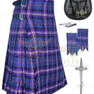 Men's Scottish Masonic 8 yard kilt - Flashes - kilt pin - Sporran waist 48