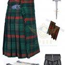 Men's Scottish Ross Hunting Modern 8 yard kilt - Flashes - kilt pin - Sporran Size 30 - 54