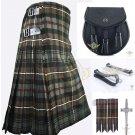 Men's Scottish Mackenzie Weathered 8 Yard KILT Traditional Kilt - Sporran - Flashes - kilt Pin