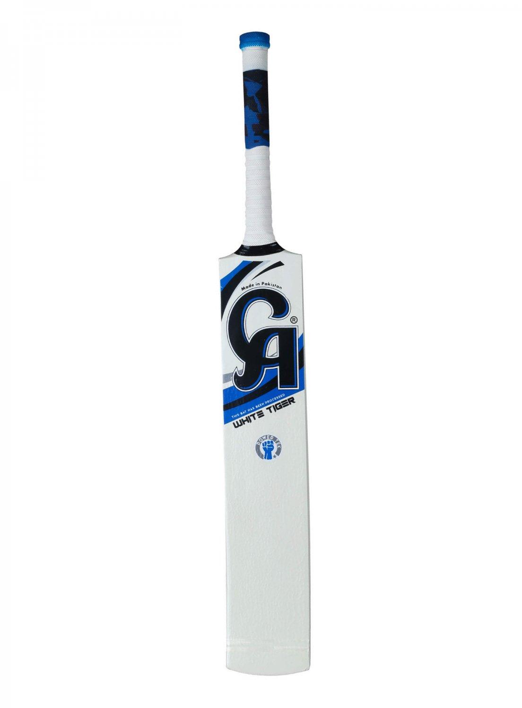 CA Soft Ball Cricket Bat WHITE-TIGER Tape Ball Bat Tennis Ball Bat out Door Cricket