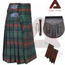 Men's Traditional Ross Hunting Modern 8 Yard KILT Scottish Kilt - Sporran - Flashes