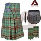 Men's Traditional Tara Murphy 8 Yard KILT Scottish Kilt - Sporran - Flashes