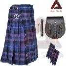 Men's Traditional Pride of Scotland 8 Yard KILT Scottish Kilt - Sporran - Flashes