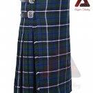 Scottish Blue Douglas 8 yard KILT For Men Highland Traditional Acrylic Tartan Kilts