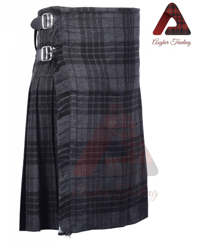 Scottish Grey Watch 8 yard KILT For Men Highland Traditional Acrylic Tartan Kilts