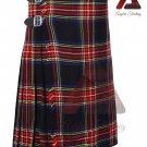 Scottish Black Stewart 8 yard KILT For Men Highland Traditional Acrylic Tartan Kilts