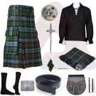 Men's Scottish Campbell Ancient Utility Kilt 2 Cargo pockets Tartan Utility kilt Package