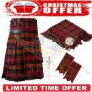 Men's Scottish MacDonald Tartan Utility Kilt 2 Cargo Pockets Kilts Christmas offer