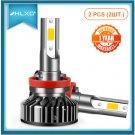 HLXG 2pcs H7 H4 LED Auto Lamps Bulbs 90W 12V Car Lights
