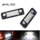 hlxg 2Pcs 18SMD LED Car License Plate Light 12V White Number Plate Lamps