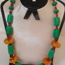VINTAGE TRIBAL JEWELERY NECKLACE - ANCIENT AFRICAN BEADS.