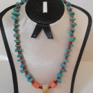VINTAGE TRIBAL JEWELERY NECKLACE WITH ANIMAL TOOTH - ANCIENT AFRICAN BEADS.