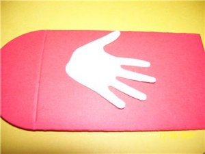 10 die cut hands