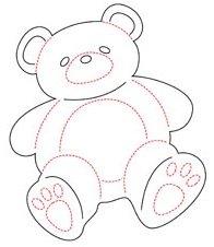 6 die cut teddy bears