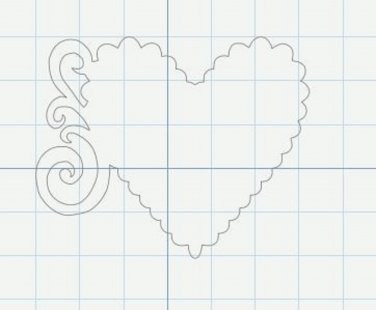 digital file deco heart svg file