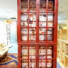 """Rack library with old newspapers and magazines """"Red Library"""", Handmade, old styled"""