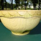 Antique Yellow Ware Green Cream Large Mixing Bowl 12""