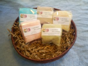 5 variety pack of handcrafted bath salts