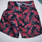 "Gymboree ""Salt Washed"" Collection Lobster Swim Trunks 6-12 months"