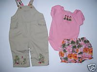 3 Piece Set Gymboree LITTLE HULA GIRL Top Pants Bloomers 3 6