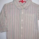 NWT Gymboree HOLIDAY Strip Button Down Shirt 6-12 m