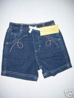 NWT Gymboree PRAIRIE RANCH Denim Boy Shorts 6-12 M