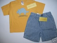 NWT Gymboree MY DINOSAUR Yellow Shirt Shorts 18-24