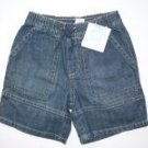 NWT Janie and Jack Summer Classics jean shorts 18 24 mo