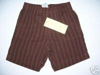 NWT Gymboree FIESTA FIESTA Brown Stripe Shorts 12-18 m