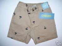 NWT Gymboree RESORT GETAWAY Khaki Palm Shorts 3-6 m
