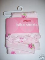 NWT Gymboree PARISIAN ROSE Pink Rose Bike Shorts 3-6 m