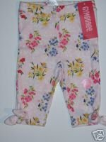 NWT Gymboree LOVE IS IN THE AIR Flower Tie Capri 12-18