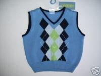 NWT Gymboree RESORT GETAWAY Argyle Sweater Vest 18-24 m