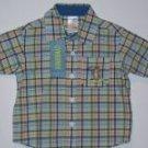 NWT Gymboree RESORT GETAWAY Plaid Cobalt Shirt Top 6-12