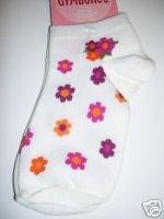 NWT Gymboree SAVANNA SUNSET Flower Ankle Socks 5-7 Y