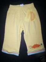 NWT Gymboree UNDER THE SEA Yellow Crab Knit PANTS 6-12