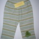 NWT Gymboree TINY POND Frog Knit Striped Pants 12-18 m