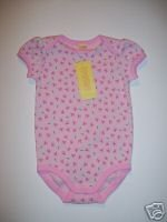 NWT Gymboree TINY POND Pink Butterfly Print Onesie 6-12