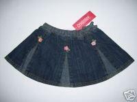 NWT Gymboree CORAL REEF Denim Flower Skirt 2t