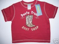 NWT Gymboree SUMMER RODEO Dusty Trails Boots Shirt 2T