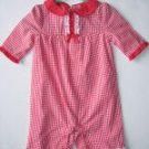 NWT Gymboree GOOD OLD DAYS Red Gingham Romper 0-3 m