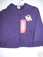 NWT Gymboree ROYAL GARDEN Purple Quilted Jacket 2T