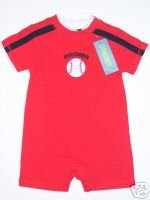 NWT Gymboree ALL STAR CHAMP Baseball Boy Romper 6 12
