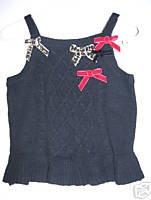 NWT Gymboree GLAMOUR KITTY Black Sweater Vest 12-18 m