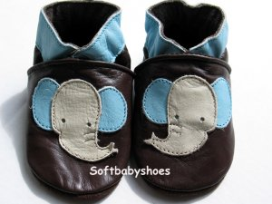 *BRAND NEW* Cute Elephant soft soled leather baby shoes