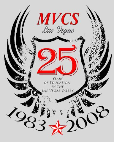 MVCS 25TH Anniversary Tshirt (Grey) (must pick up at the school, no shipping available).