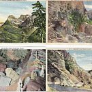 Lot of 4 GIANT Postcards Senic Views