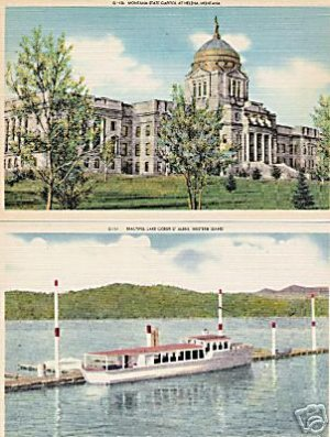 Lot of 2 GIANT Postcards, Montana - Idaho