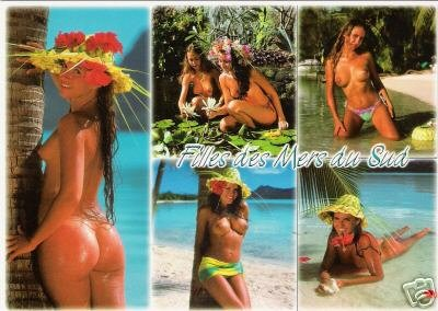 Girls of the South Seas - Topless Tahiti Girls- Card 7