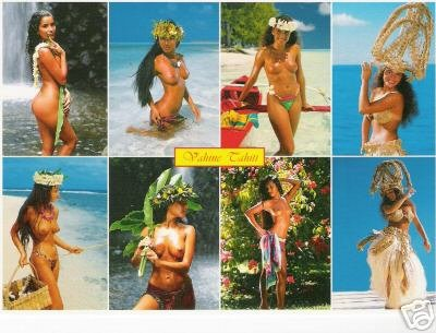 Girls of the South Seas - Topless Tahiti Girls - Card 20
